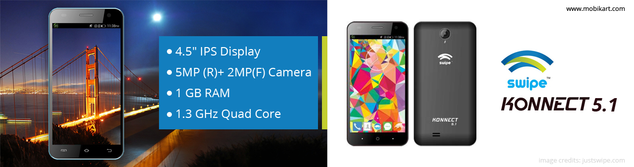 Swipe Konnect Plus Mobile with 13MP Camera, 3,000mAh battery launched at Rs 4,999