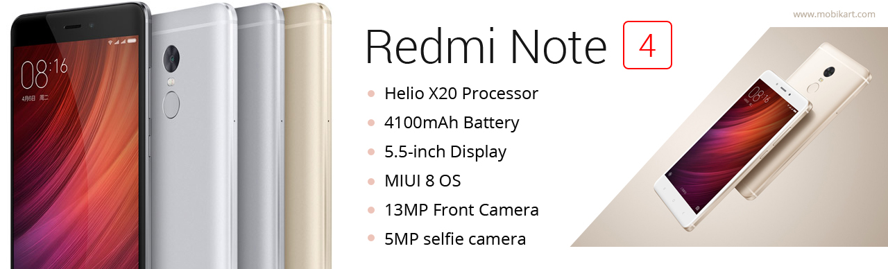 Xiaomi launches Redmi Note 4 with Helio X20 processor, 4100mAh battery in China