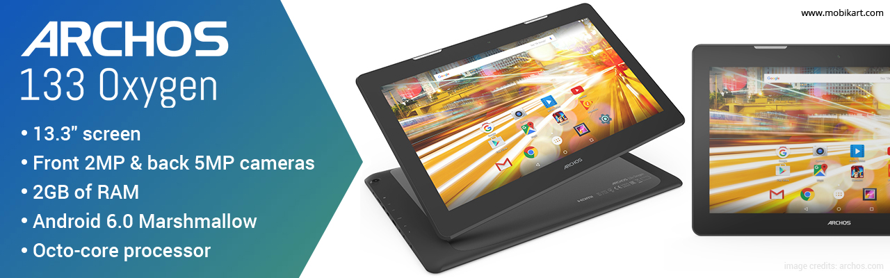 Archos 133 Oxygen Tablet launched at IFA 2016: 13.3 Full HD Display with 10,000mAh battery