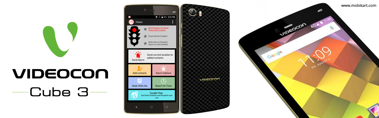 Videocon Cube 3 with 'SOS Button' & 3GB RAM Launched
