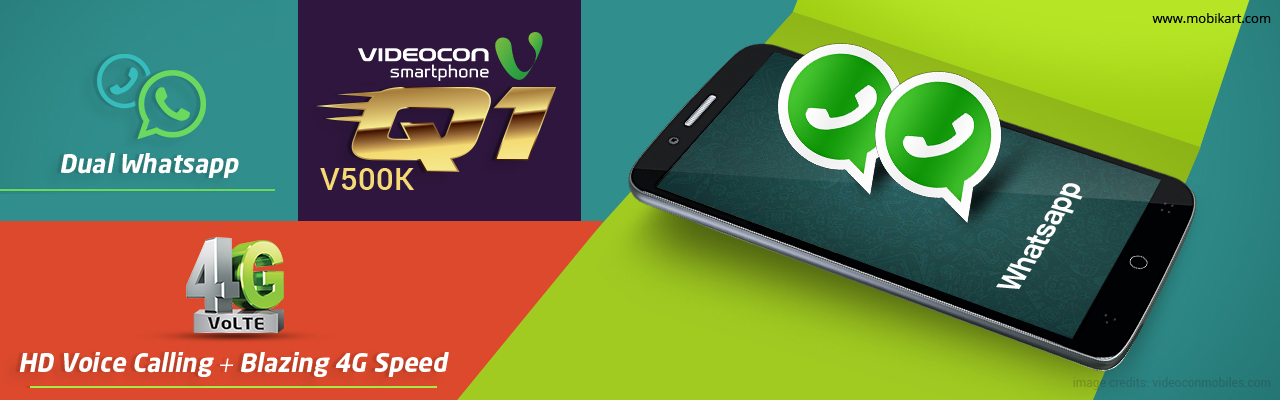 Videocon Q1 V500K Spotted with Dual WhatsApp & 4G VoLTE