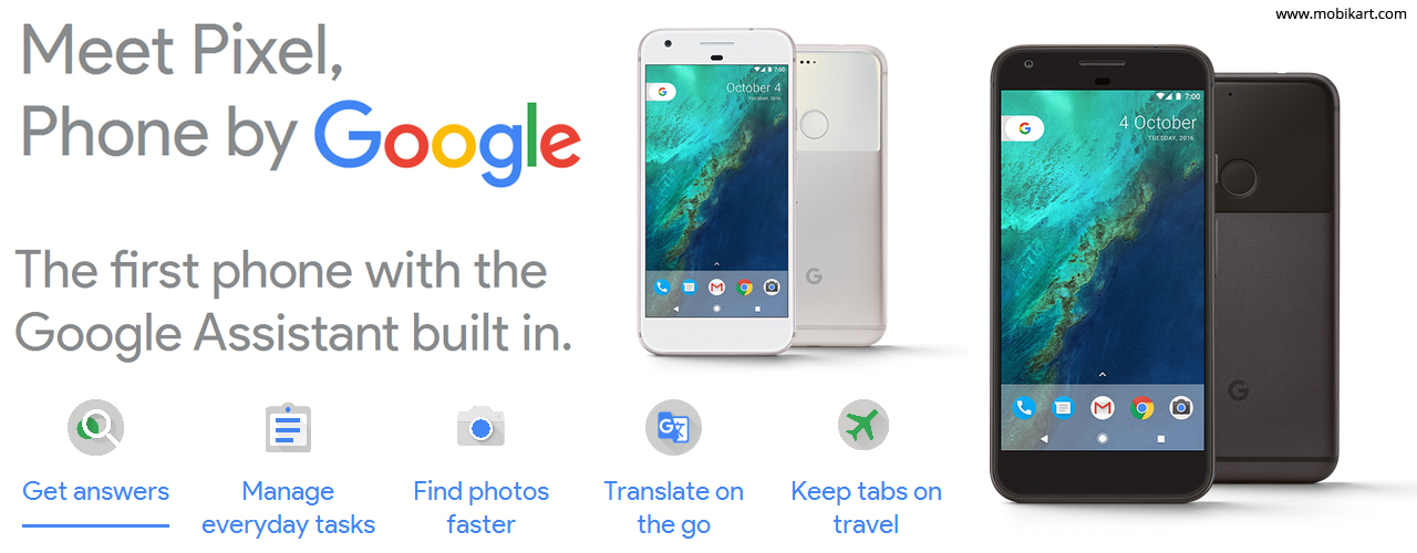 Google Pixel, Pixel XL, the First Google-Branded Smartphone Launched