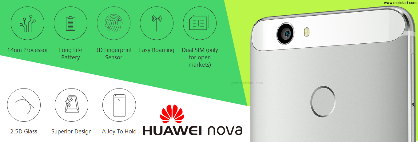 Huawei Nova Officially Launched with 4GB RAM Variant