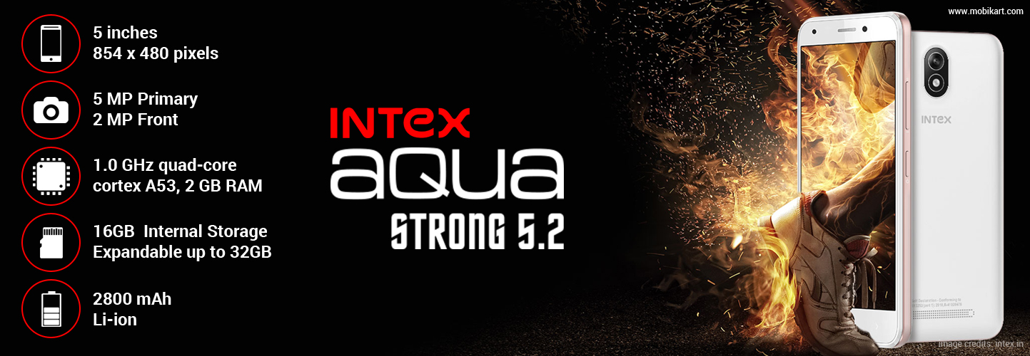 Intex Aqua Strong 5.2 launched in India with 4G VoLTE at Rs 6,390
