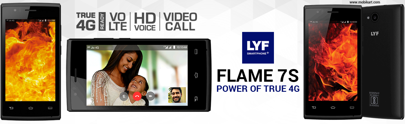 LYF Flame 7S Launched in India with 4G VoLTE at Rs 3,499