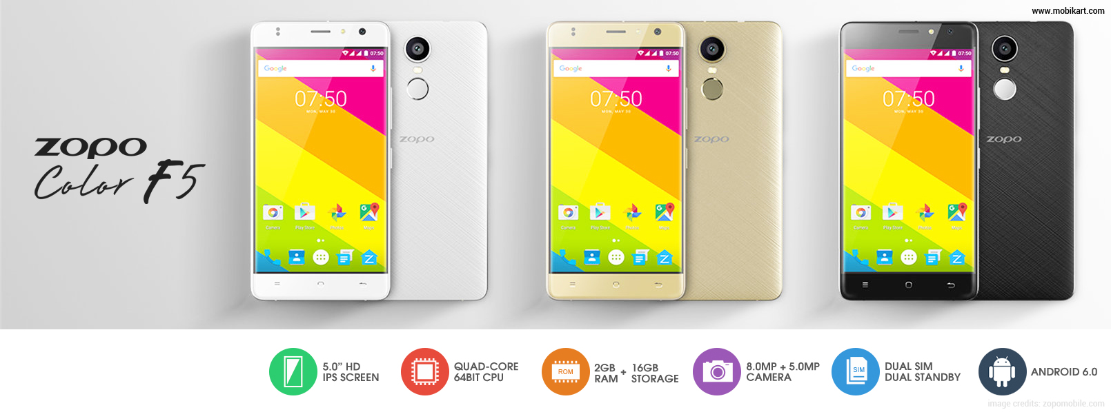 Zopo Color F5 Launched in India at a price of Rs 10,590