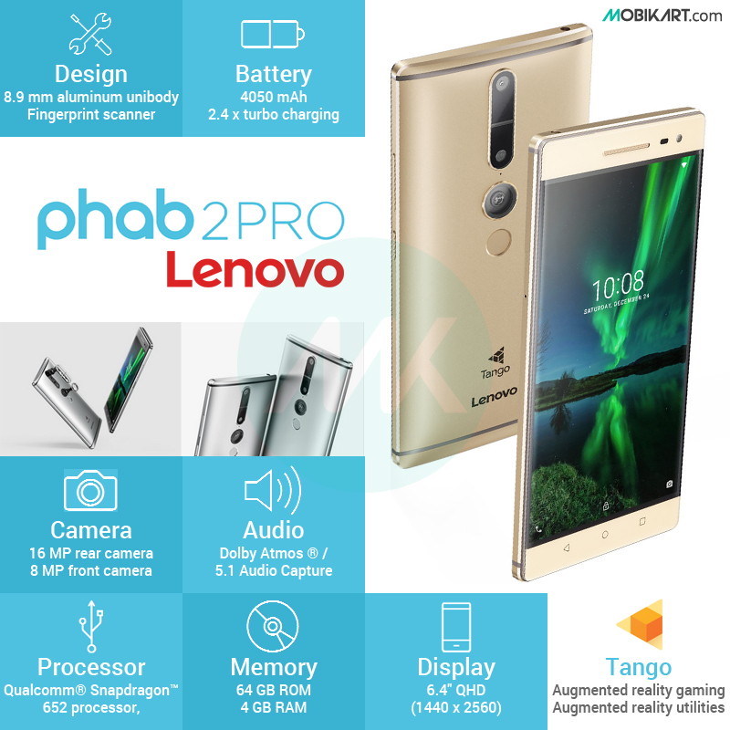Lenovo Phab 2 Pro, the First Google Tango Phone Might Arrive in November