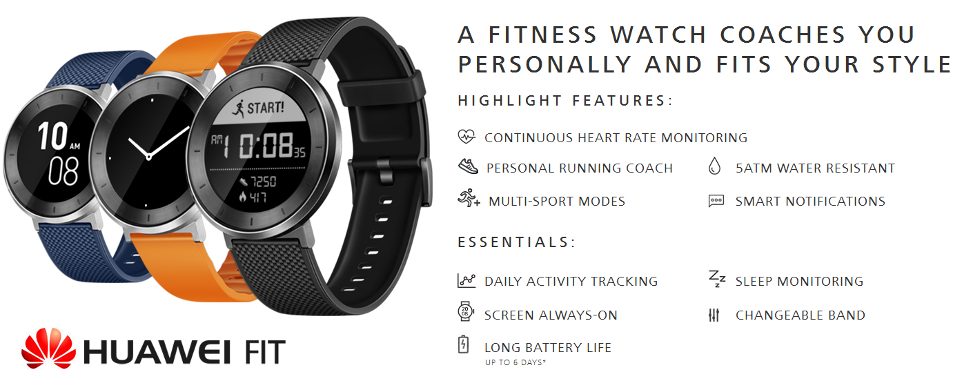 Huawei Fit: A New Fitness Tracker in Town