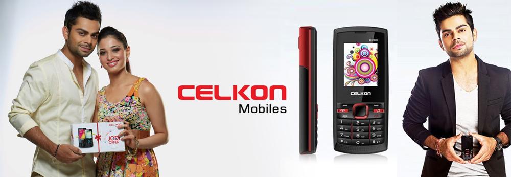 Tamannah Bhatia and Virat Kohli endorsing Celkon mobiles