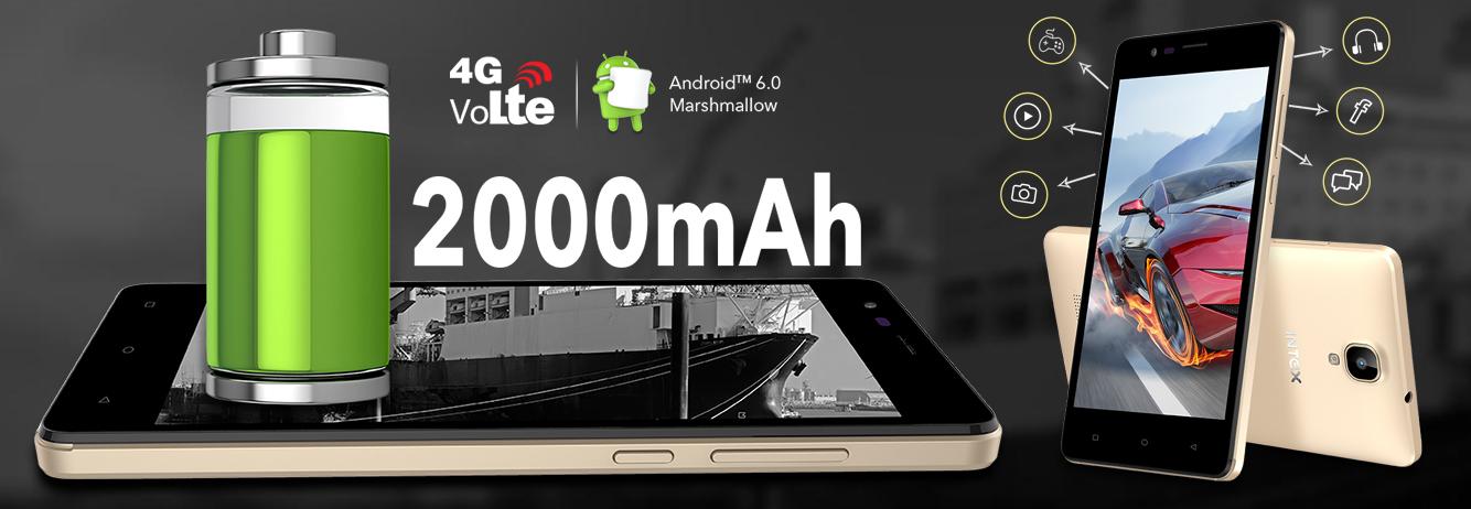 Intex Aqua Lions 4G Smartphone Launched in India