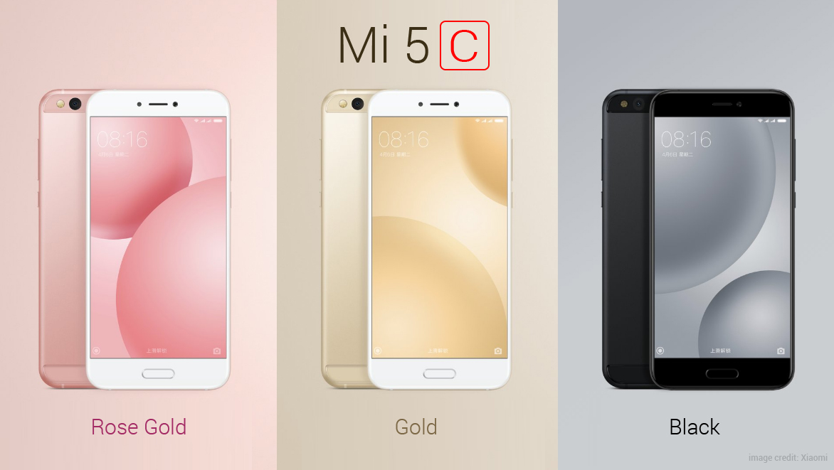 Xiaomi Launches Mi 5c with In-House Surge S1 Chipset
