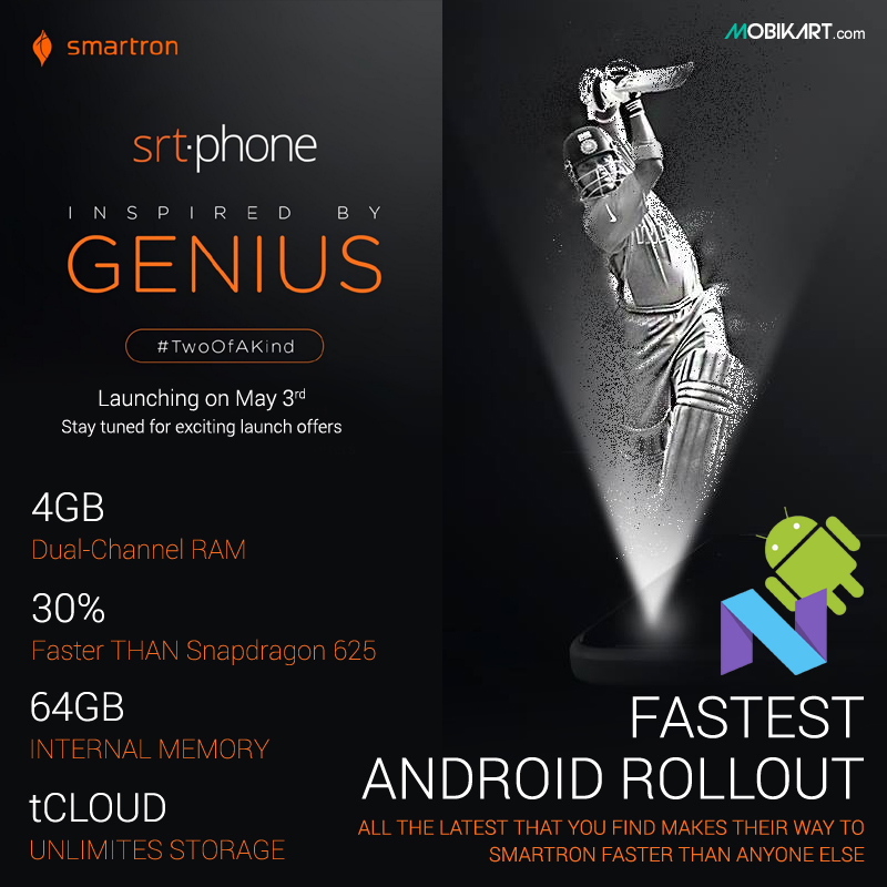 Smartron srt.phone to Launch Today in India By Sachin Tendulkar