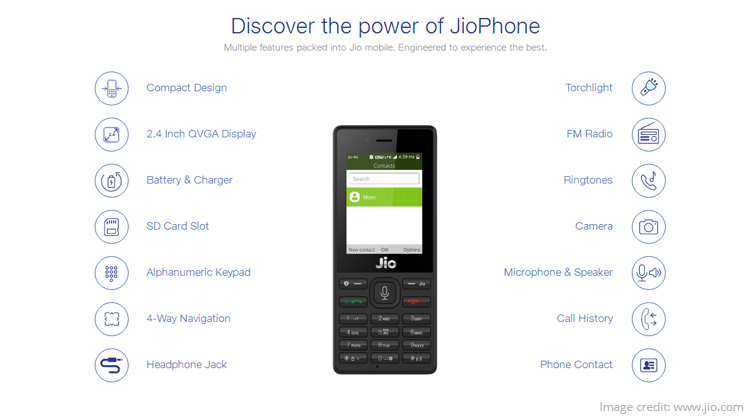 Reliance JioPhone Out for Booking: Full Specifications, Price, Features