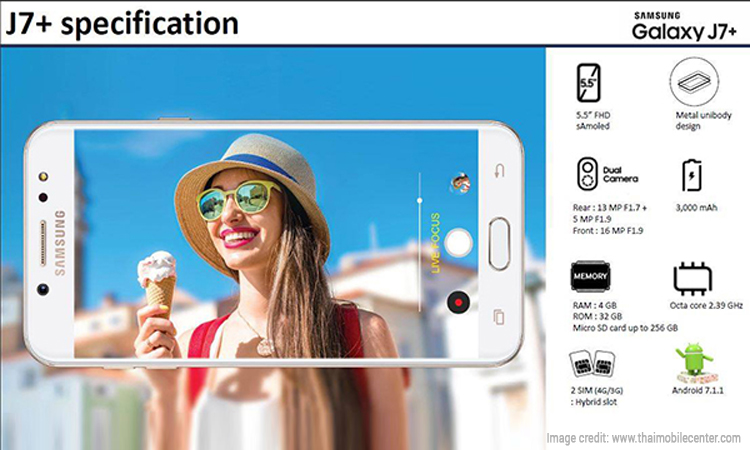 Samsung Galaxy J7+ Leaked Online Flaunting these Features