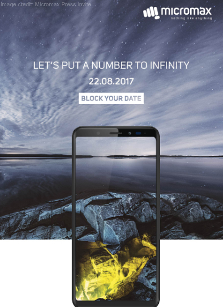Micromax Canvas Infinity to Launch on August 22 with 18:9 Display
