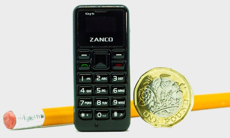 This Zanco Tiny t1 Phone Is Sized As Small As Your Thumb