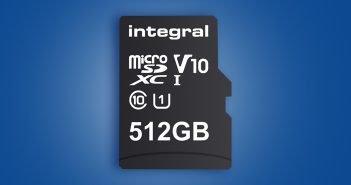 Integral Launches World's Biggest 512GB microSD card