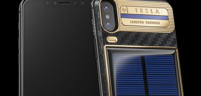 This $4500 iPhone X Tesla Will Never Run out of Charge