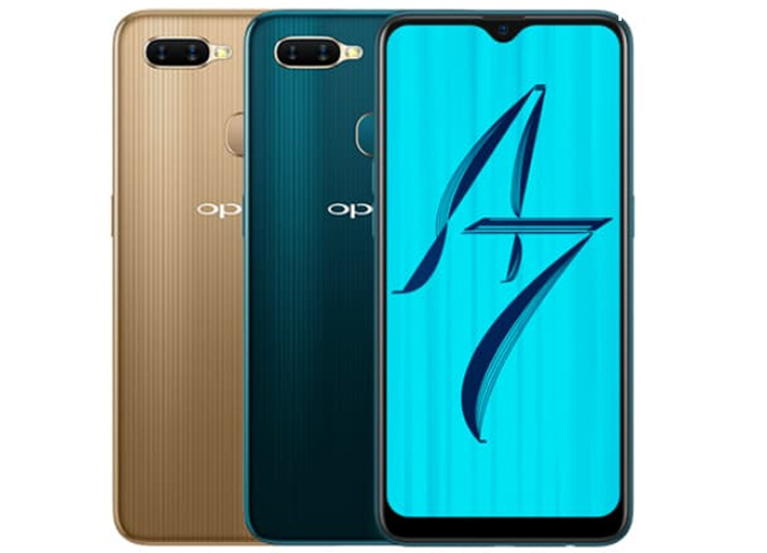 Oppo A7 with Waterdrop Notch Announced in India