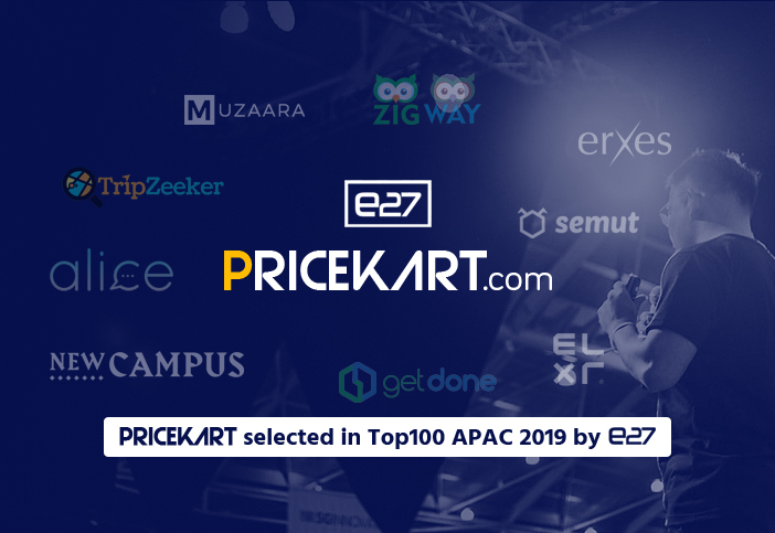 Indian Start-Up Pricekart Selected in Top100 APAC 2019 Event by E27