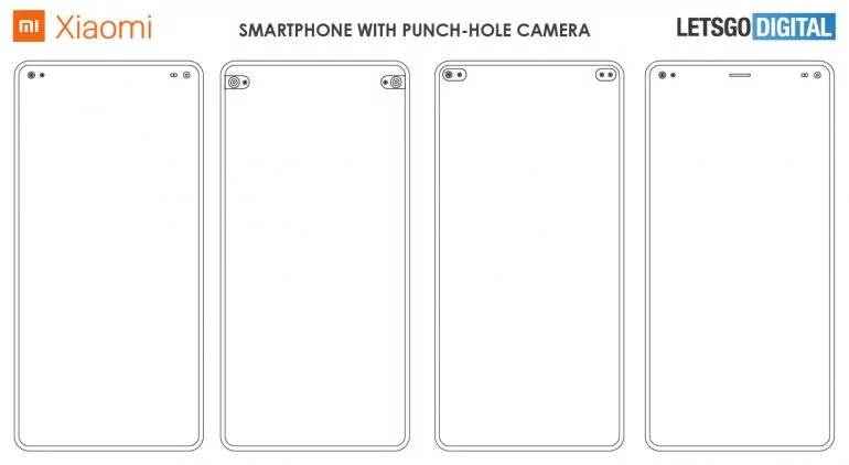 Xiaomi dual punch hole display smartphone