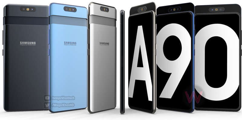 Samsung Galaxy A90 Renders Reveal Rotating Camera with Slider Design