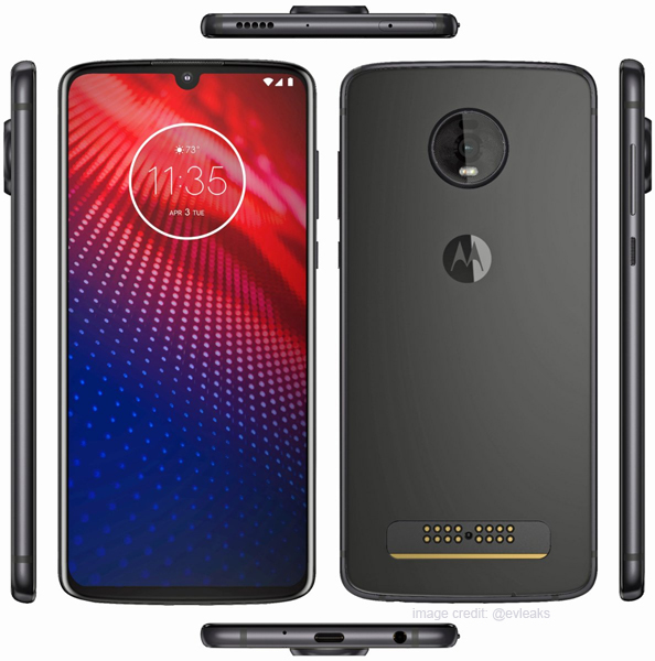 Renders of the Moto Z4 Reveal How the Smartphone Will Look Like